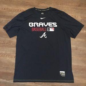 Nike dri fit Atlanta braves t-shirt size large